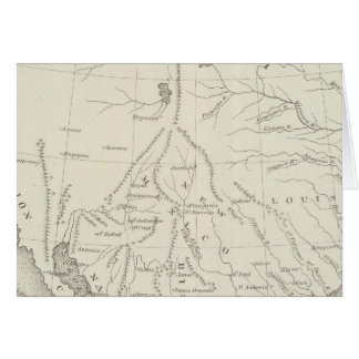 Reduced section, general map, North America, 1795 Greeting Card