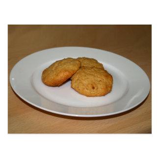 Reduced Sugar Peanut Butter Cookies Recipe Card Postcard