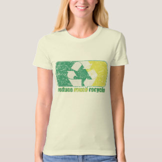 Reduse Reuse Recycle Logo t shirt