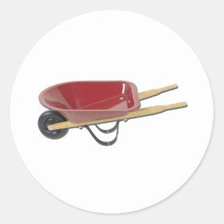 RedWheelbarrow050111 Round Sticker