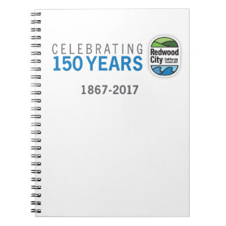Redwood City 150th Anniversary Notebooks