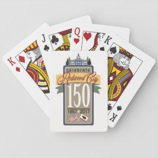 Redwood City 150th Anniversary Poker Deck