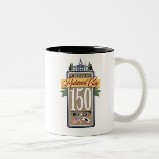 Redwood City 150th Anniversary Two-Tone Coffee Mug