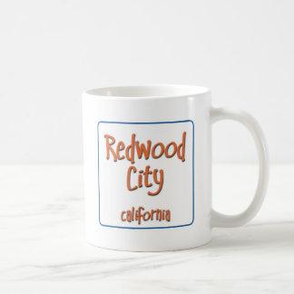 Redwood City California BlueBox Basic White Mug