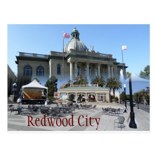 Redwood City postcard