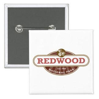 Redwood National Park 15 Cm Square Badge