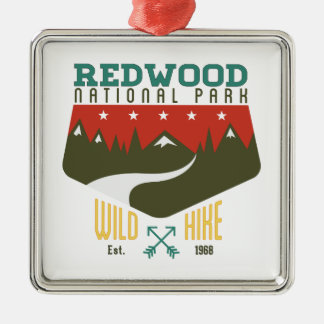 Redwood National Park Christmas Ornament