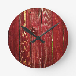 redwood round clock