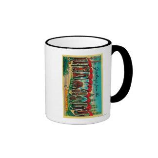 Redwoods, California - Large Letter Scenes Coffee Mugs