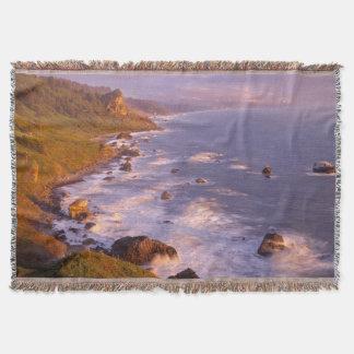Redwoods coastline, California Throw Blanket