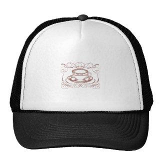 Redwork Tea Cup Cap