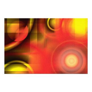 RedYellow Abstract Photo Print