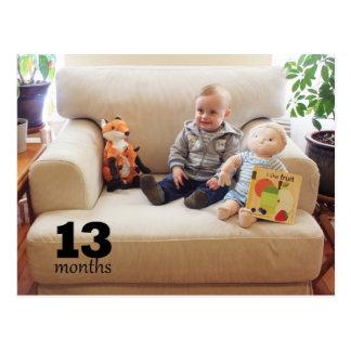 Reed - 13 months postcard