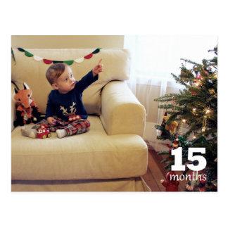 Reed - 15 months postcard