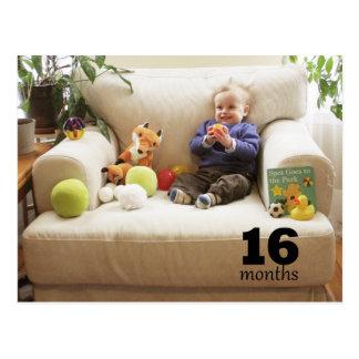 Reed - 16 months postcard