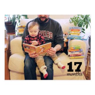 Reed - 17 months postcard
