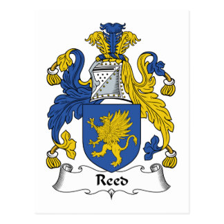 Reed Family Crest Postcard