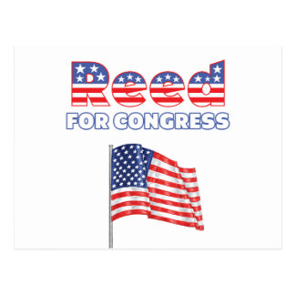 Reed for Congress Patriotic American Flag Design Postcard