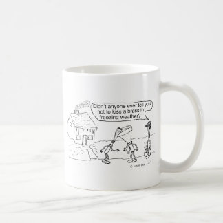 Reed Kissing Brass Coffee Mug