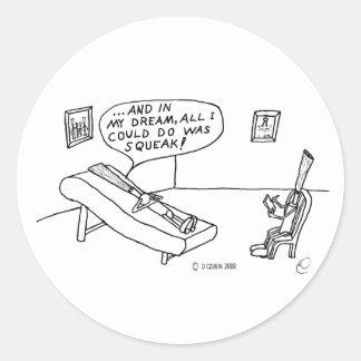 Reed Psychologist White Round Sticker