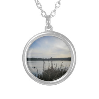 Reeds in Blakemere Moss in Delamere Forest Pendant