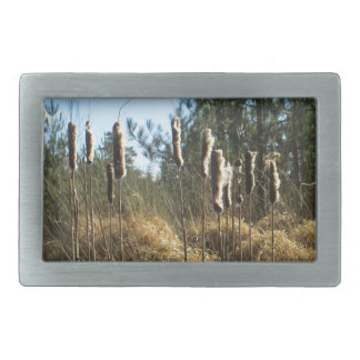 Reeds in the Wind Rectangular Belt Buckles