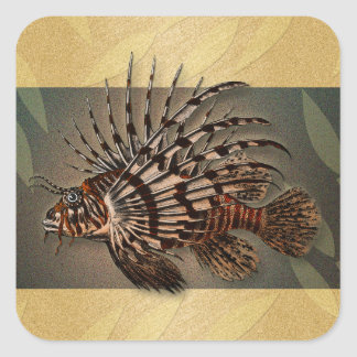 Reef coral fish fishing gifts square sticker