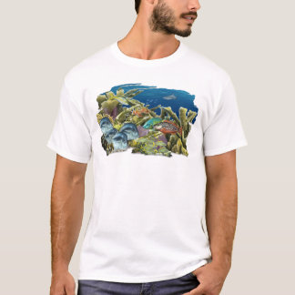 Reef Fish Over Elkhorn Coral T-shirt