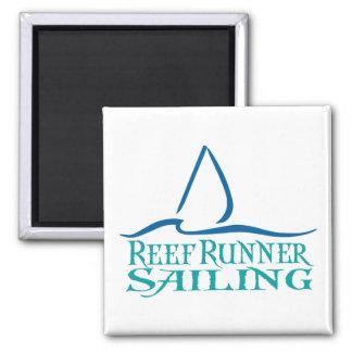 Reef Runner Sailing Square magnet