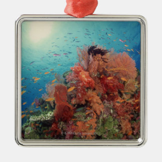 Reef scenic of hard corals , soft corals 2 christmas ornament