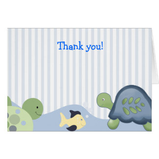 REEF TURTLE Folded Thank you note Card