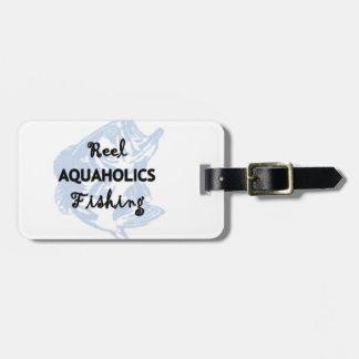 Reel Aquaholics Fishing Luggage Tag
