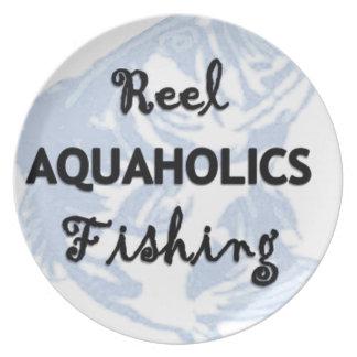 Reel Aquaholics Fishing Plate