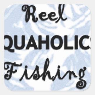 Reel Aquaholics Fishing Square Sticker
