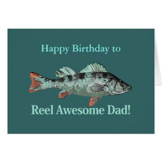 Reel Awesome Dad Fishing Humor Birthday Humor Card