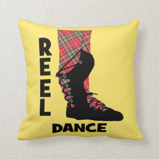 Reel Dance Scottish Country Dance Themed Cushion