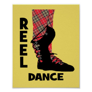 Reel Dance Scottish Country Dance Themed Poster
