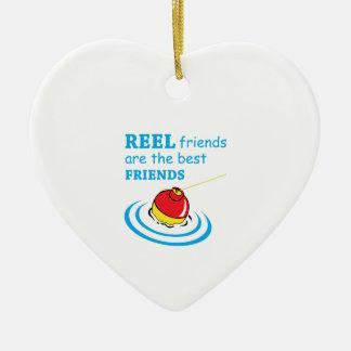 REEL FRIENDS CERAMIC HEART DECORATION