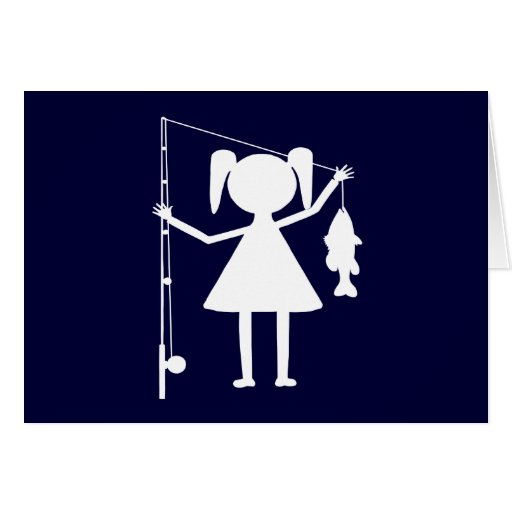 REEL GIRL GREETING CARD