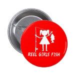 REEL GIRLS FISH! 6 CM ROUND BADGE