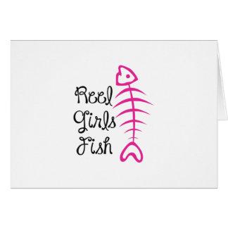 REEL GIRLS FISH GREETING CARD