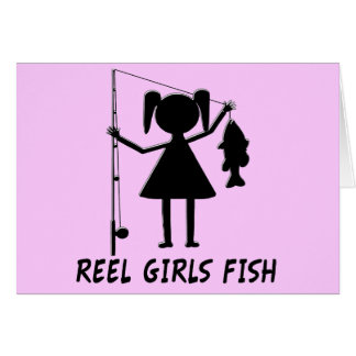 REEL GIRLS FISH CARD