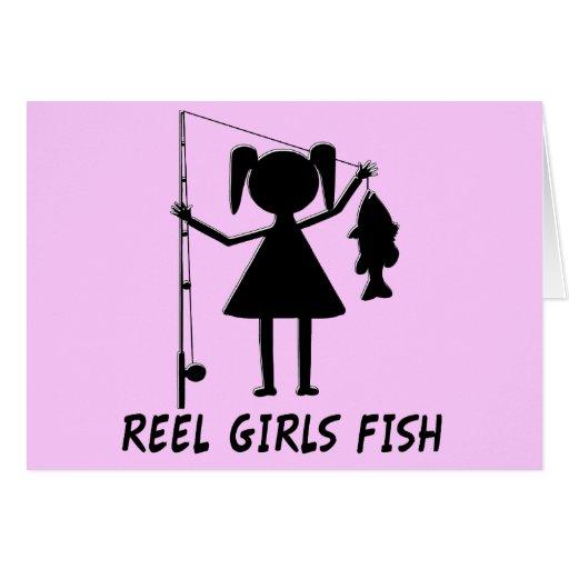 REEL GIRLS FISH GREETING CARDS