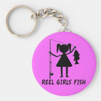 REEL GIRLS FISH KEY RING