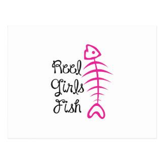 REEL GIRLS FISH POST CARDS