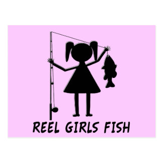 REEL GIRLS FISH POSTCARD