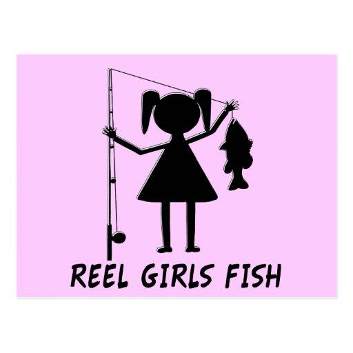 REEL GIRLS FISH POST CARD