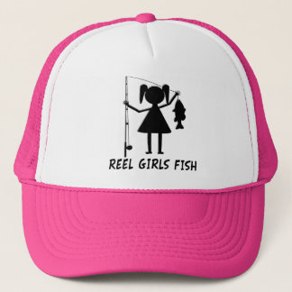 REEL GIRLS FISH TRUCKER HAT