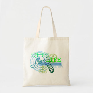 Reel Life in Blue Budget Tote Bag
