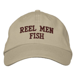 Reel Men Fish Embroidered Hat